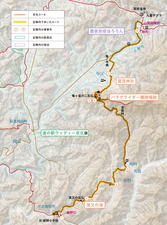 京北コースマップ
