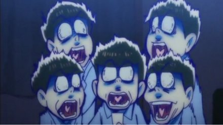 おそ松さん6つ子びっくり
