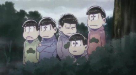 おそ松さん9話見守る兄弟