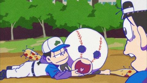 おそ松さん25話 十四松 野球マン