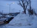 夕刻の雪景色