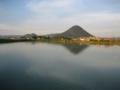 四国 丸亀市 田村池から(野鳥飛来地のひとつです)