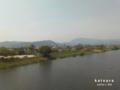 桂川 嵐山遠景