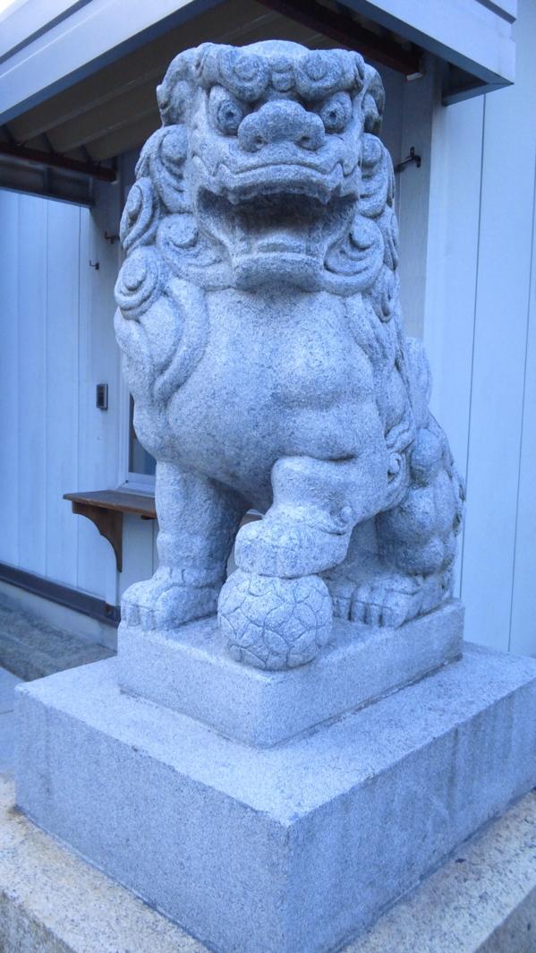 狛犬 三王神社 神戸