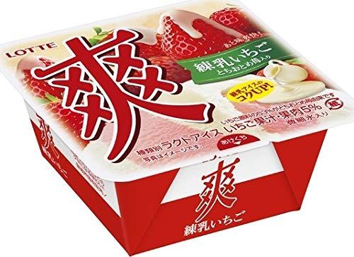 ロッテ 爽 練乳いちご185ml×18個