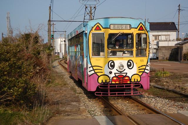 ネコ電車(高岡駅前方)
