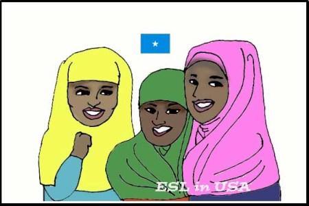 ソマリアの女性たち ESL in USA