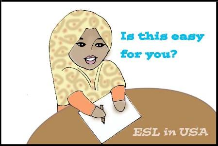 """イスラム女性が勉強しているところ  """"Is this easy for you?"""""""