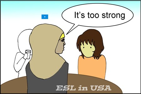 """ソマリア女子が """"It's too strong"""" と言っている"""