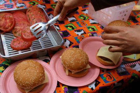 ハンバーガーのトッピング