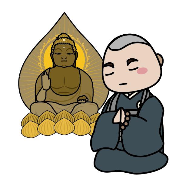 佛に祈願する佛に祈願する僧侶