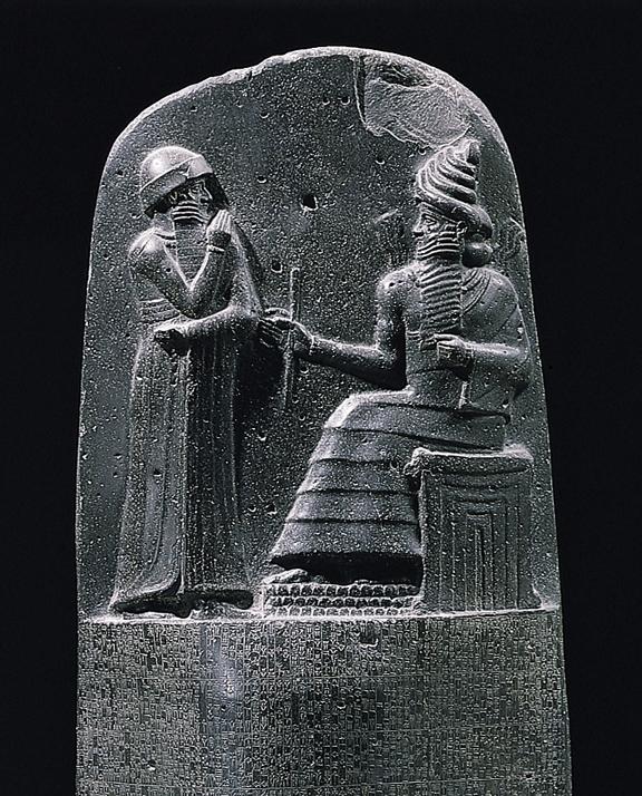 ハンムラビ法典が書かれた石棒