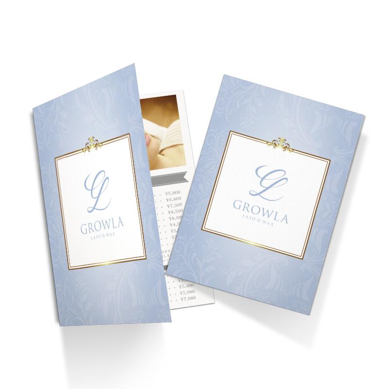 サロン料金表,美容広告デザイン,サロンメニュー