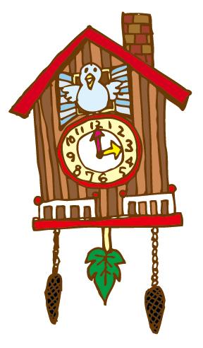 3時を知らせる鳩時計