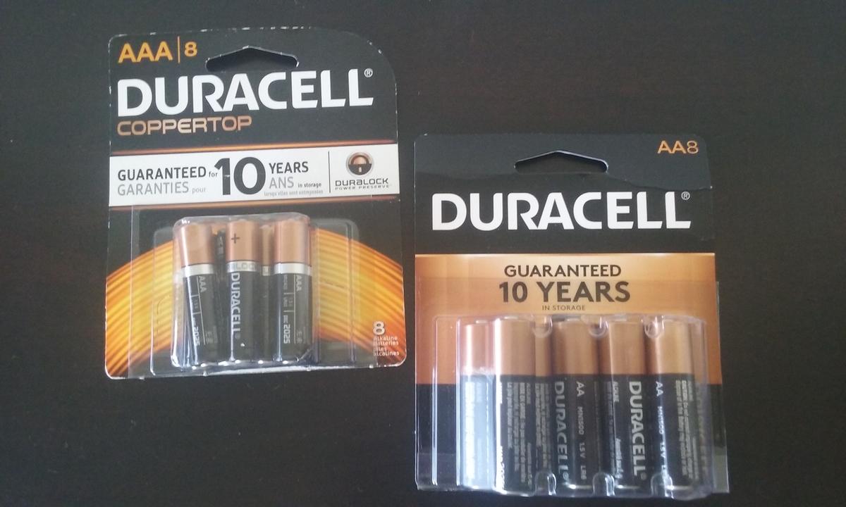 定番の単2・単3の乾電池