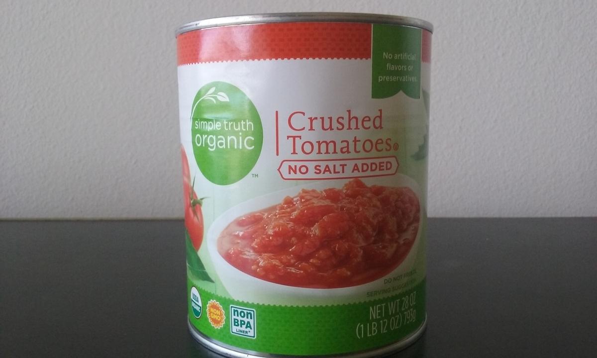 トマトの缶詰の写真。
