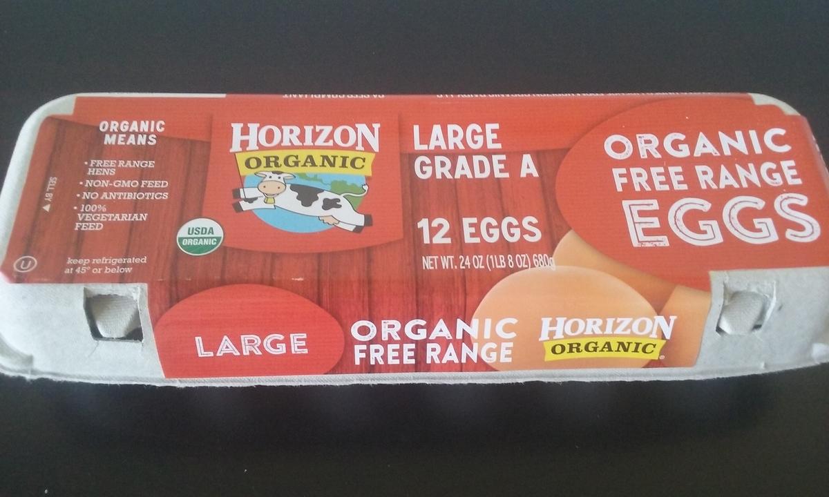 オーガニック卵の写真。