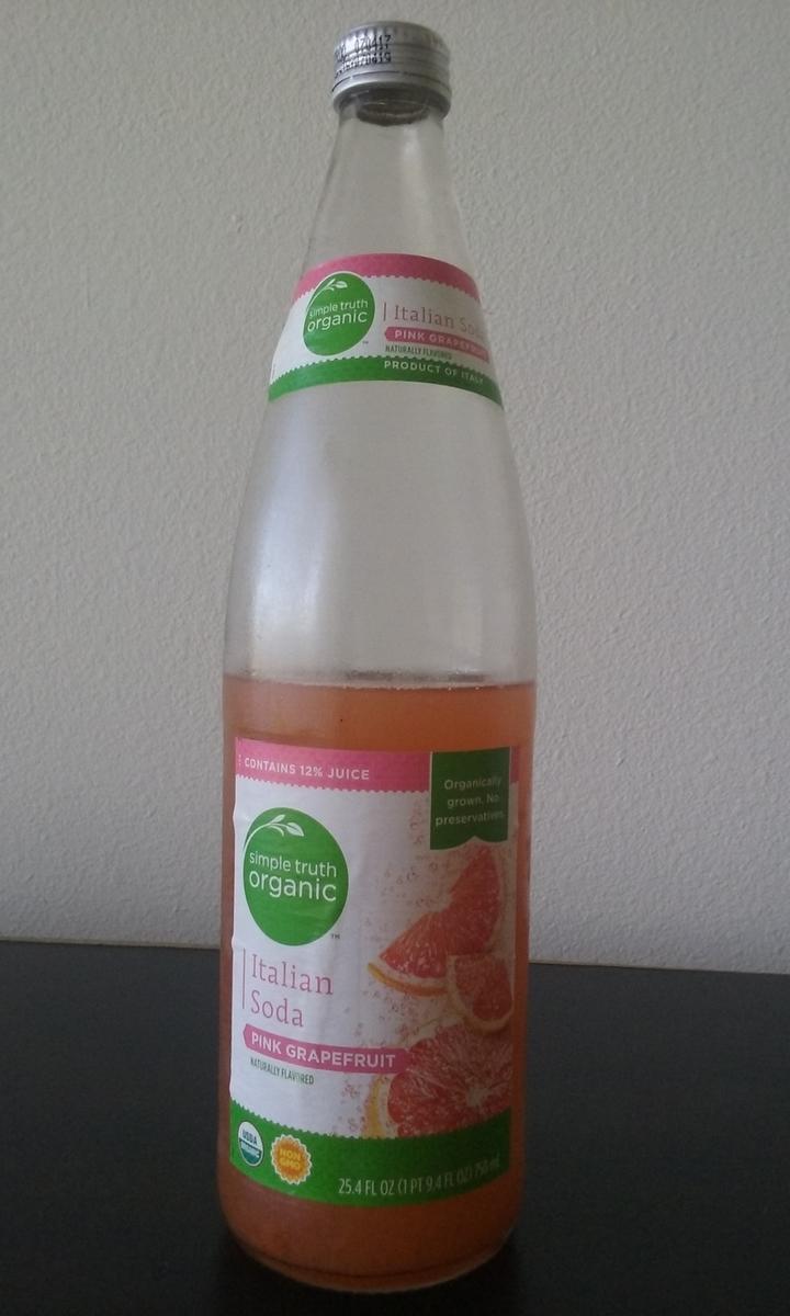 オーガニックグレープフルーツジュース。