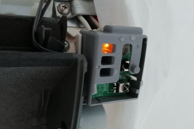 エアコンの強制運転ボタン