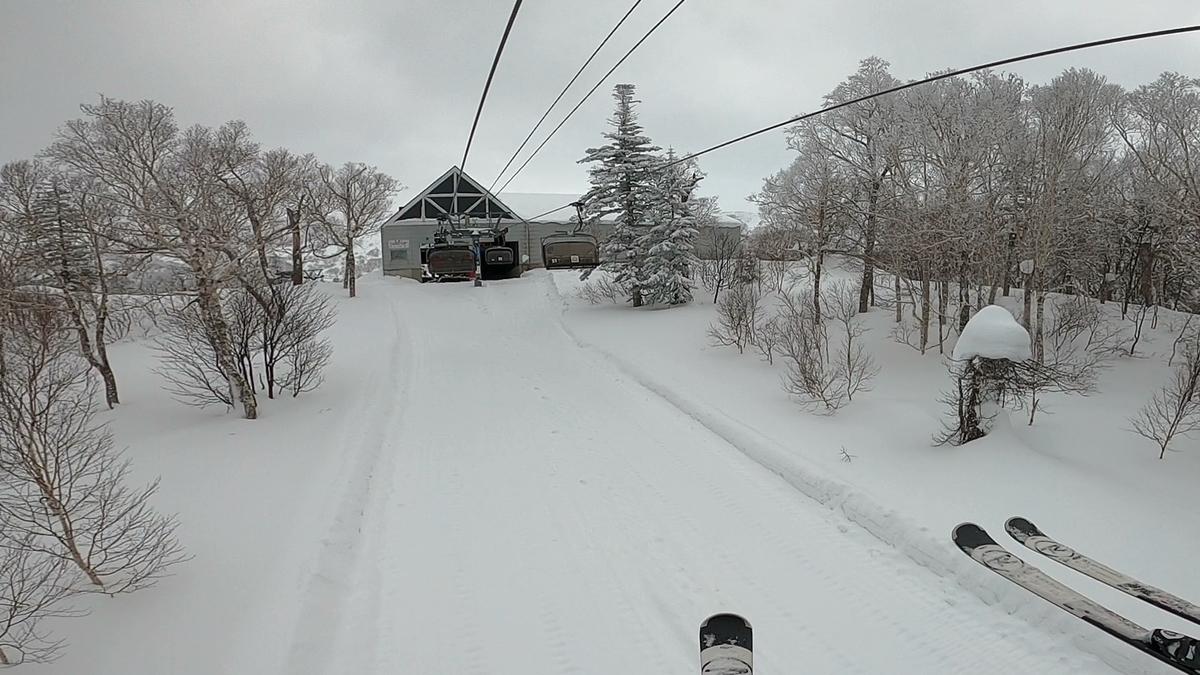 前日までの寒波で訪問初日の積雪は十分だった