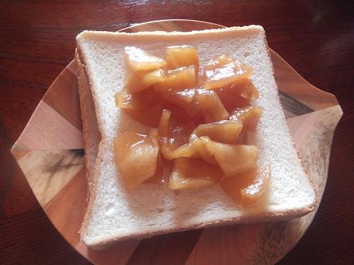 りんごジャムトースト