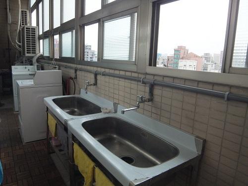 ゲストハウスの洗い場