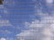 青空と白い雲が四角く分割されてます