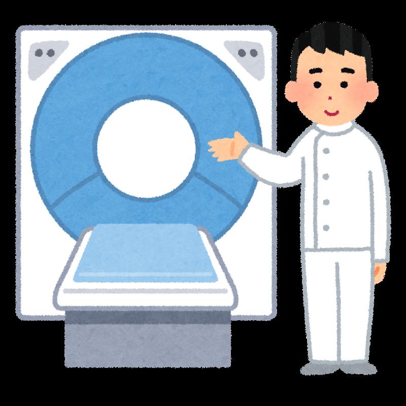 CT検査で診断の補助をする放射線技師