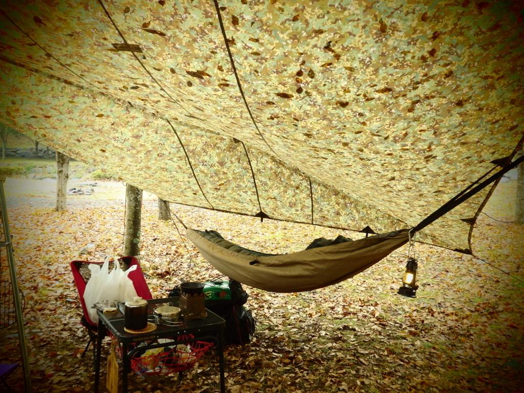 ハンモックで昼寝