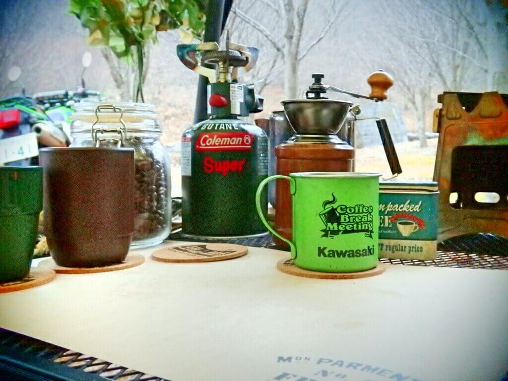 自然の中で堪能するコーヒー