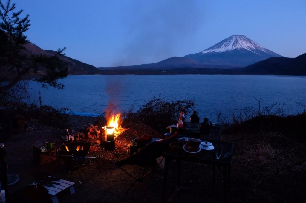 浩庵キャンプ場での冬キャンプ