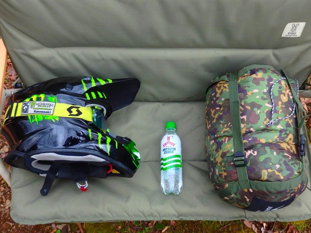 ヘルメットよりワンサイズ大きい化繊寝袋