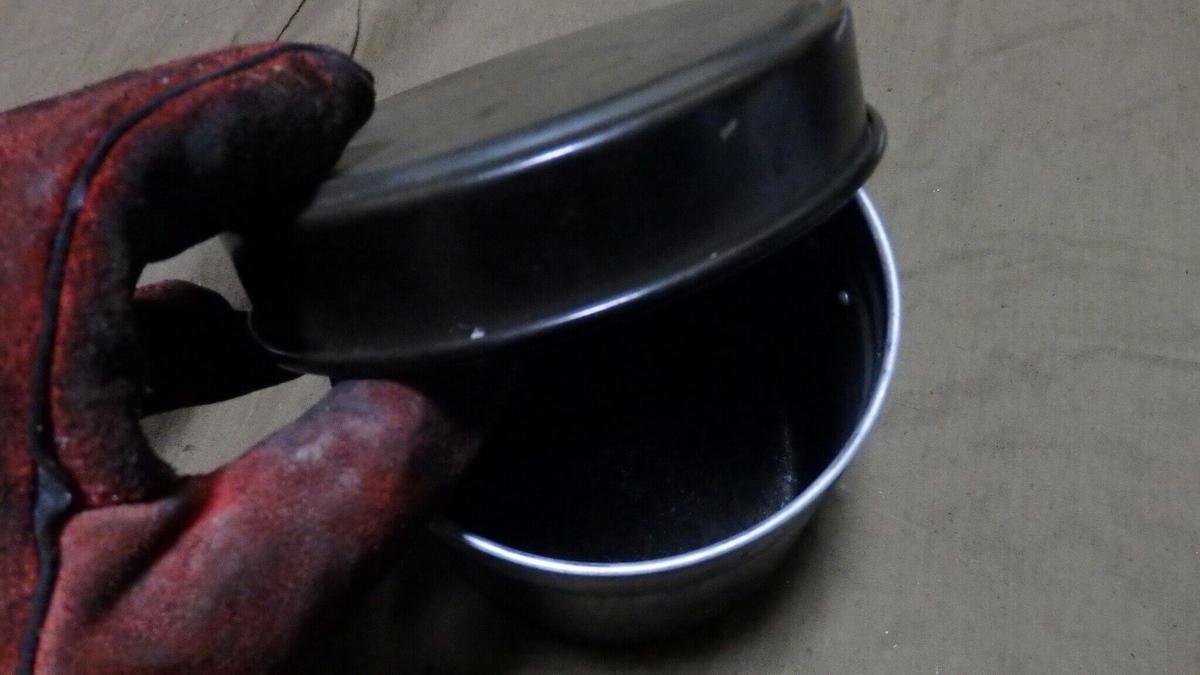 火消し壺として使用している飯盒