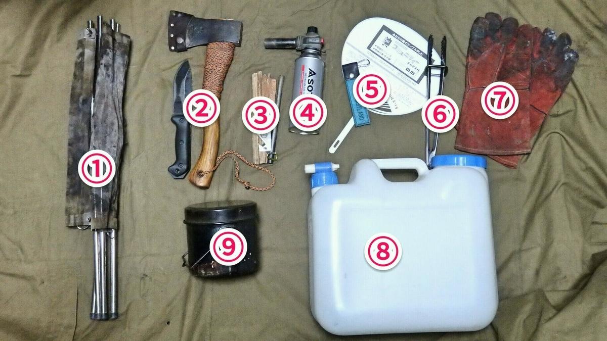 焚き火に必要な9種類の道具