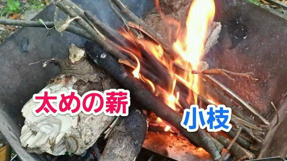焚き火 リーントゥ型