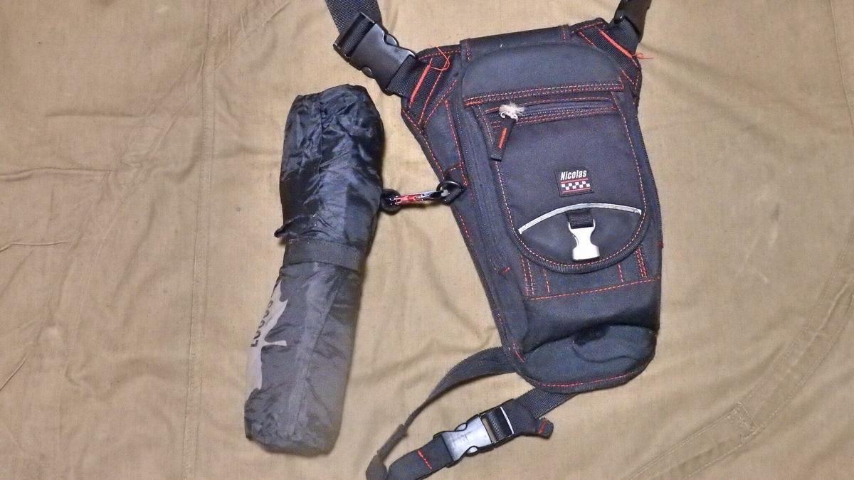 レッグバックに装着したワンポールチェア