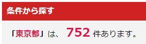 東京都のホール数は800近くある