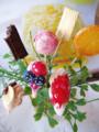[スイーツデコ][苺][ブルーベリー][バナナ][チョコ][マカロン][ウエハース][オレンジ][ガーデンピック]Order2011-KY_1