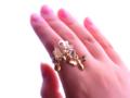 [アクセサリー][スワロフスキー][天然石][シトリン][チェコビーズ][蜜蜂][指輪]RentalBox-201609_19