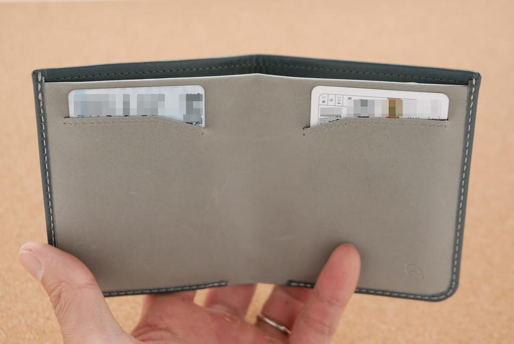 内側のカードポケットにカードを指してある画像
