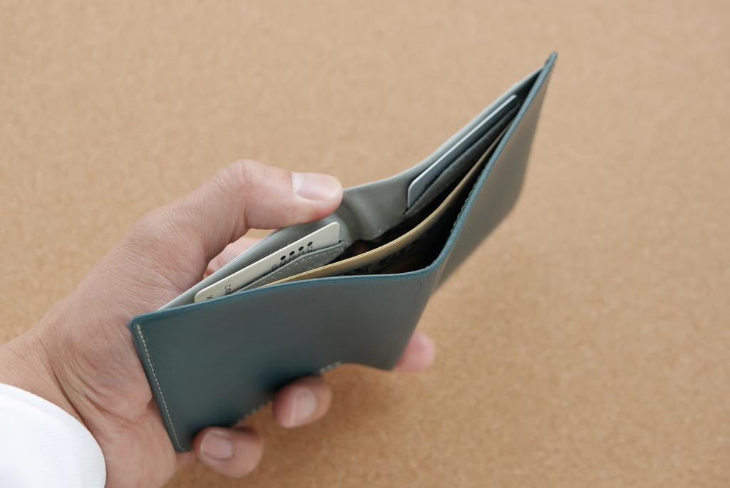 裏側のカードポケットに挿してあるカード
