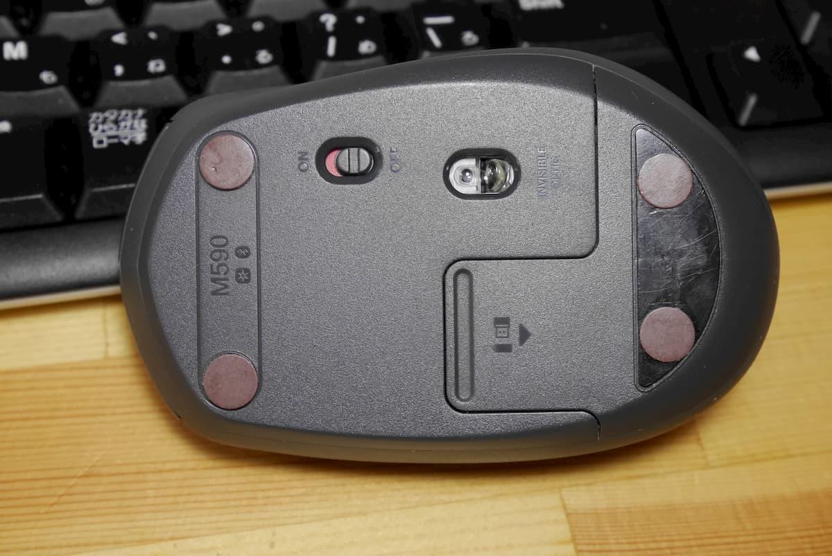 マウスソールの上からトスベールを貼りつけた状態