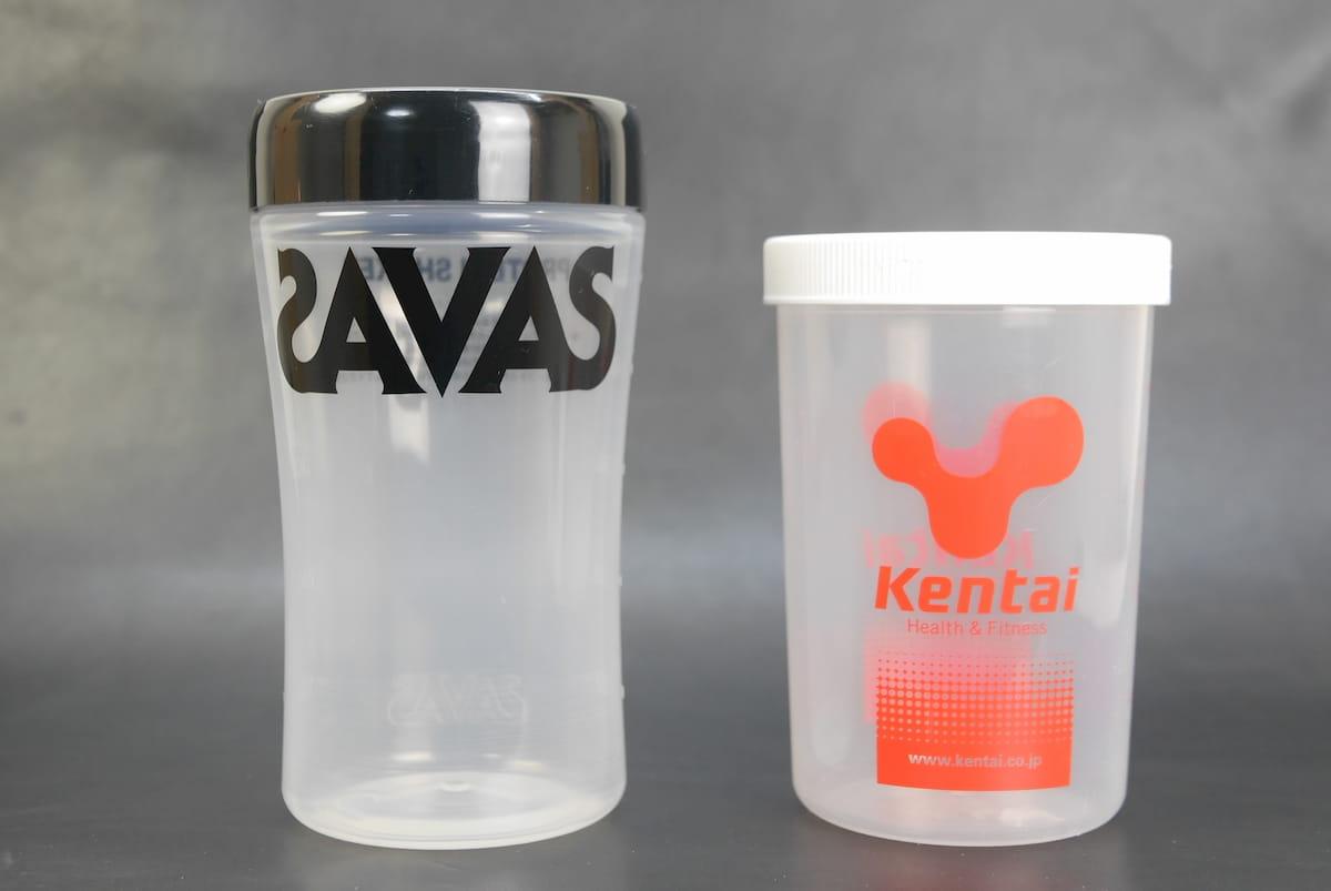 SavasとKentaiのプロテインシェーカー