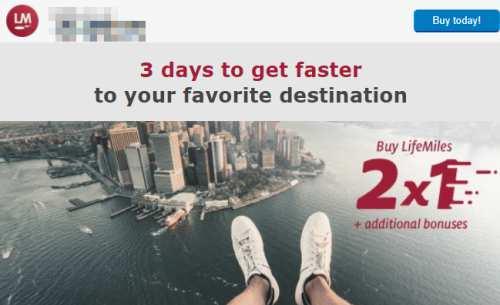 アビアンカ航空バイマイルボーナスキャンペーンメール