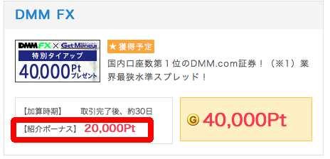 DMM FX紹介ポイント