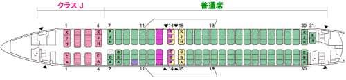 ボーイング737-800機内座席配置