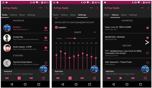 韓国のラジオが聴ける無料アプリ『K-POP Radio』