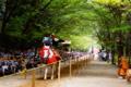 京都新聞写真コンテスト『近江神宮流鏑馬~当たれっ!』