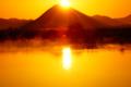 京都新聞写真コンテスト『ダイヤモンド近江富士と木の浜内湖のケア