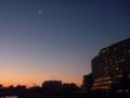 『夜明けの細いお月様』♯琵琶湖
